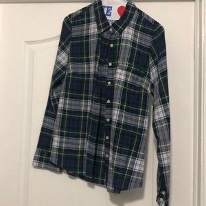 J Crew Fitted Plaid Button Down